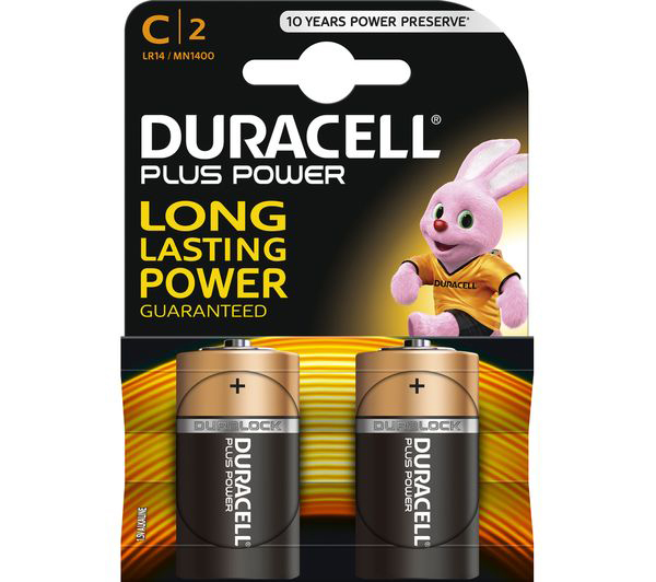 Image of Duracell - Power Plus Batteri C - 2 stk