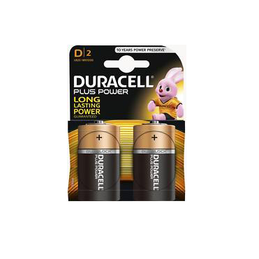 Image of Duracell - Power Plus Batteri D - 2 stk
